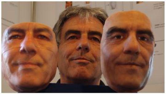 Rostro en 3D con el escáner 3D de Artec.