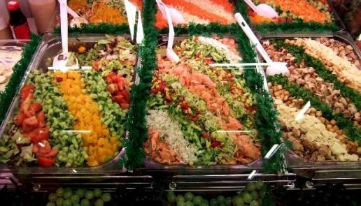 Medición de la iluminación en mostradores de comida.