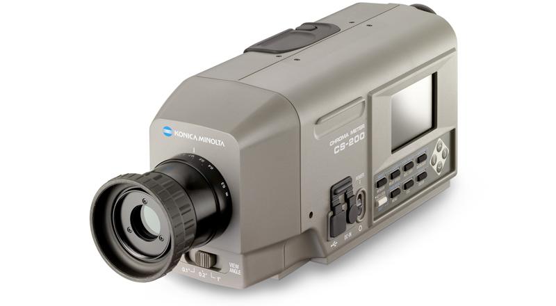 Colorímetro CS-200 para la medida de la luminancia.