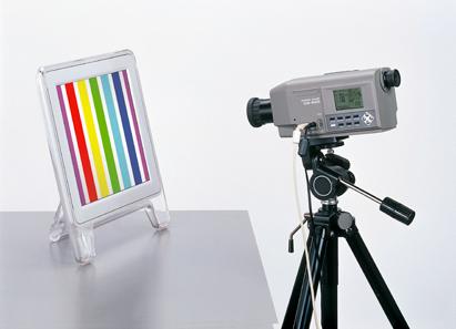 Medidor de luz y color de una fuente de luz.