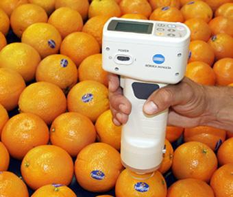 Medidores de color Konica Minolta, especialmente adecuados para la medición de cítricos.