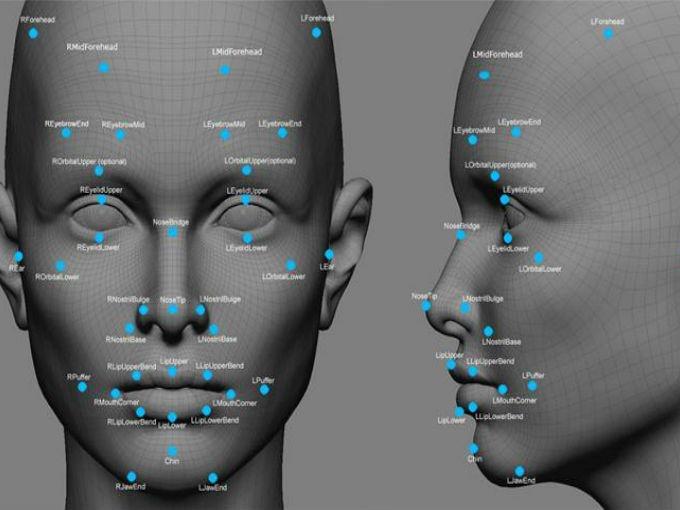Reconocimiento facial 3D, escáner 3D, digitalizador 3D.