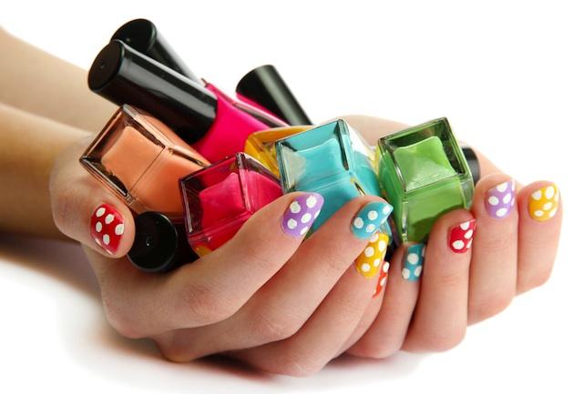 Medir el color, esmalte de uñas, pintauñas