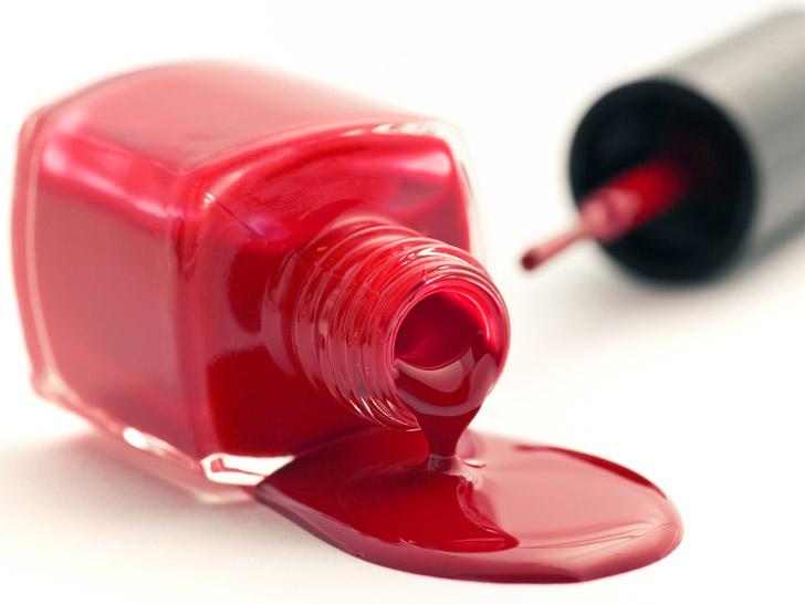Medir el color, esmalte de uñas, pintauñas.