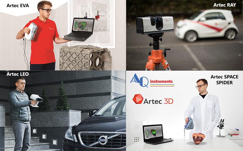Conjunto Escáneres 3D Artec - AQ instruments